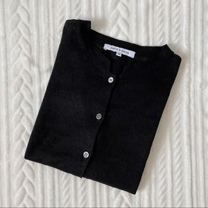 Judith & Charles 100% Linen Knit Button-Down Top